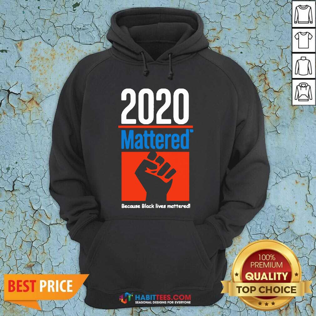 Premium 2020 Mattered Because Black Lives Mattered Hoodie - Design by Habittees.com