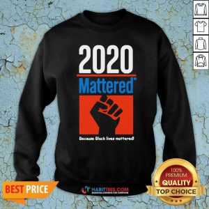 Premium 2020 Mattered Because Black Lives Mattered Sweatshirt - Design by Habittees.com