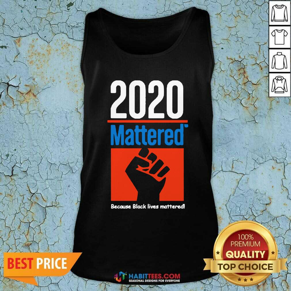 Premium 2020 Mattered Because Black Lives Mattered Tank Top - Design by Habittees.com