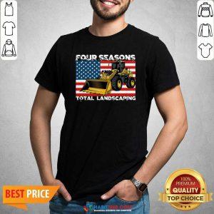 Premium Four Season Total Landscaping American Flag Shirt - Design by Habittees.com
