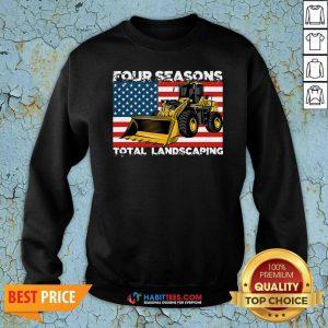 Premium Four Season Total Landscaping American Flag Sweatshirt - Design by Habittees.com