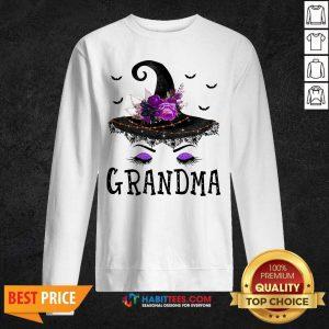 Premium Grandma Witch Hat Halloween Sweatshirt- Design by Habittees.com