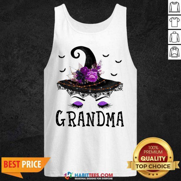 Premium Grandma Witch Hat Halloween Tank Top- Design by Habittees.com