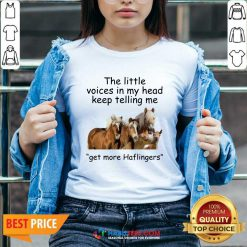 Premium Horses The Little Voices In My Head Keep Telling Me Get More Haflingers V-neck - Design by Habittees.com