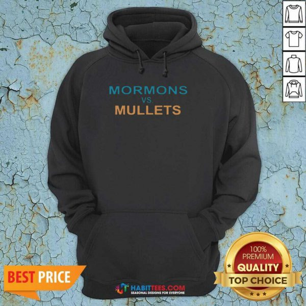 Premium Mormons Vs Mullets Hoodie - Design by Habittees.com