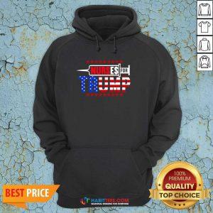 Premium Nurse For Trump 2020 American Flag Hoodie - Design by Habittees.com