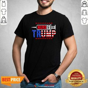 Premium Nurse For Trump 2020 American Flag Shirt - Design by Habittees.com
