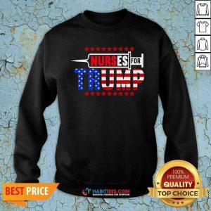 Premium Nurse For Trump 2020 American Flag Sweatshirt - Design by Habittees.com