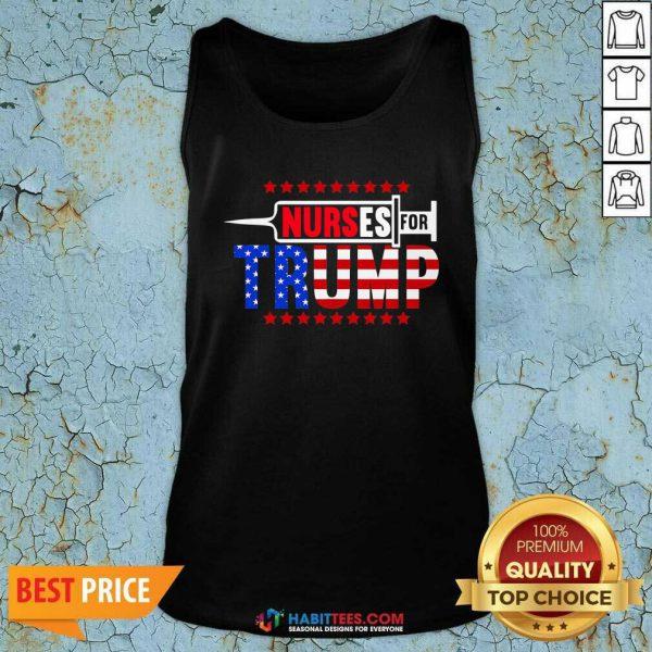 Premium Nurse For Trump 2020 American Flag Tank Top - Design by Habittees.com