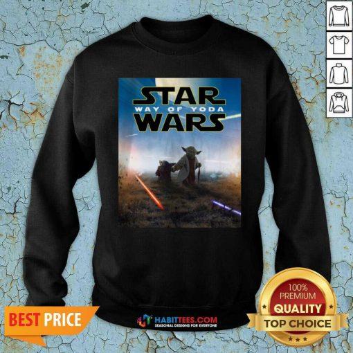 Premium Star Wars Way Of Baby Yoda Poster Sweatshirt - Design by Habittees.com