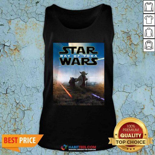 Premium Star Wars Way Of Baby Yoda Poster Tank Top - Design by Habittees.com