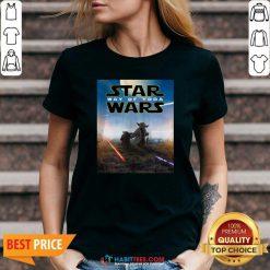 Premium Star Wars Way Of Baby Yoda Poster V-neck - Design by Habittees.com