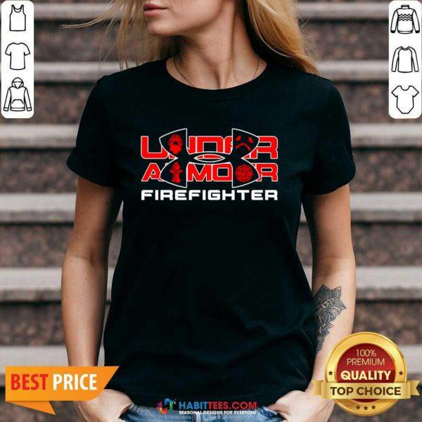 Premium Under Armour Firefighter V-neck - Design by Habittees.com