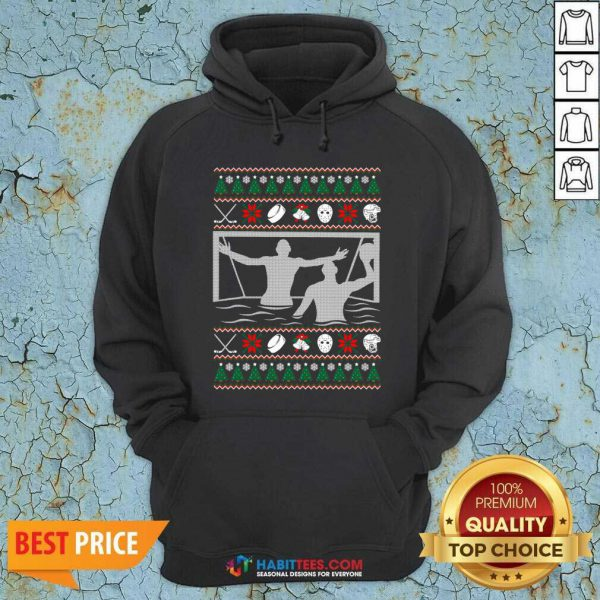 Premium Water Polo Ugly Christmas Hoodie - Design by Habittees.com