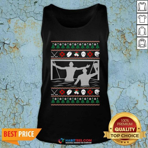 Premium Water Polo Ugly Christmas Tank Top - Design by Habittees.com