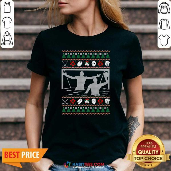 Premium Water Polo Ugly Christmas V-neck - Design by Habittees.com