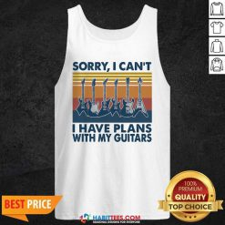 Sorry I Cant Have Plans With My Guitars Vintage Retro Tank Top - Design by Habittees.com