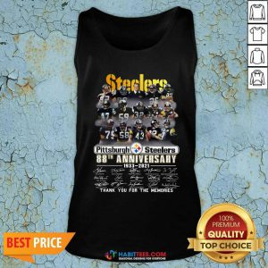 Steelers Pottsburgh 88th Anniversary 1933-2021 Thank You For The Memories Tank Top - Design by Habittees.com