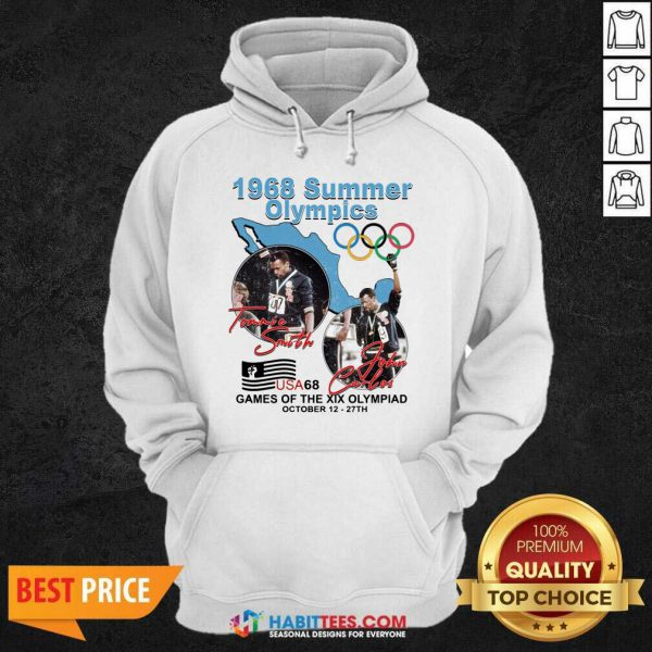Tommie Smith John Carlos 1968 Summer Olympics Games Of The Xix Olympiad Hoodie - Design by Habittees.com