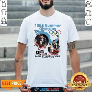 Tommie Smith John Carlos 1968 Summer Olympics Games Of The Xix Olympiad Shirt - Design by Habittees.com