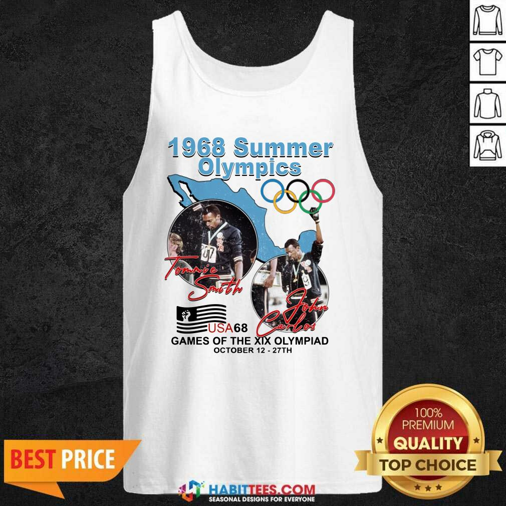 Tommie Smith John Carlos 1968 Summer Olympics Games Of The Xix Olympiad Tank Top - Design by Habittees.com