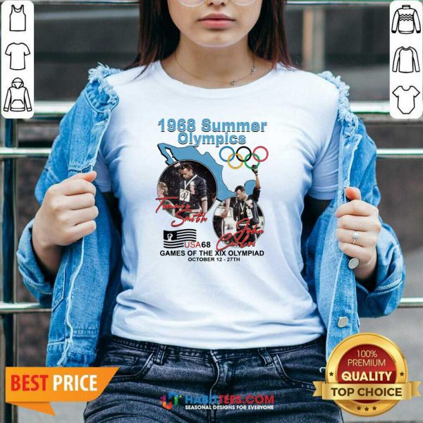 Tommie Smith John Carlos 1968 Summer Olympics Games Of The Xix Olympiad V-neck - Design by Habittees.com