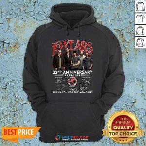Top 10 Years 22nd Anniversary 1999 2021 Thank Memories Signatures Hoodie - Design by Habittees.com