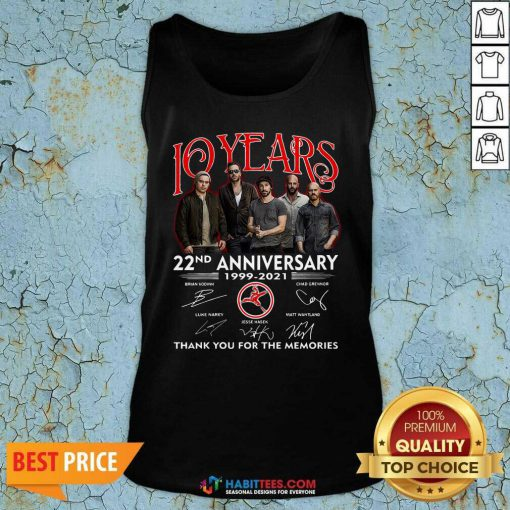 Top 10 Years 22nd Anniversary 1999 2021 Thank Memories Signatures Tank Top - Design by Habittees.com