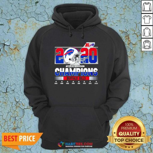 Top 2020 AFC East Division Champions Buffalo Bills 1980 2020 Hoodie - Design by Habittees.com