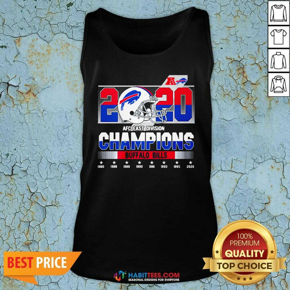 Top 2020 AFC East Division Champions Buffalo Bills 1980 2020 Tank Top - Design by Habittees.com