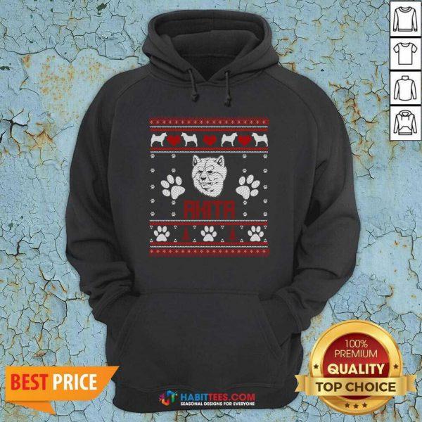 Top Akita Ugly Christmas Hoodie - Design by Habittees.com
