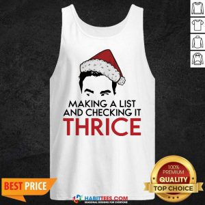 Top David Rose Make A List And Checking It Thrice Christmas Tank Top - Design by Habittees.com