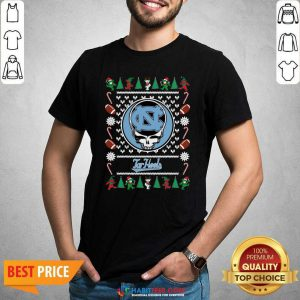 Top North Carolina Tar Heels Grateful Dead Ugly Christmas Shirt - Design by Habittees.com