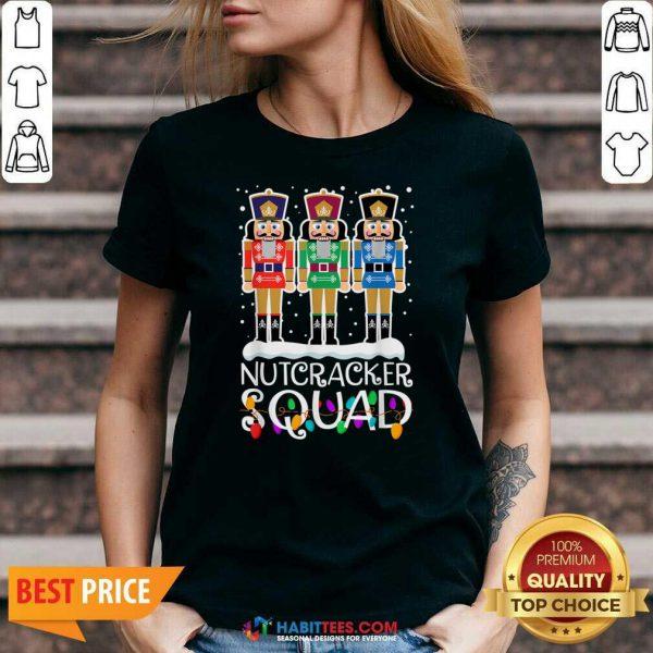 Top Nutcracker Squad Merry Christmas V-neck - Design by Habittees.com