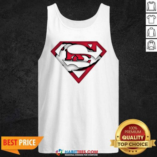 Top Superman Kansas City Chiefs Tank Top - Design by Habittees.com