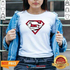 Top Superman Kansas City Chiefs V-neck - Design by Habittees.com