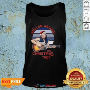 Top Swollen Around The Christmas Tree Vintage Christmas Tank Top - Design by Habittees.com