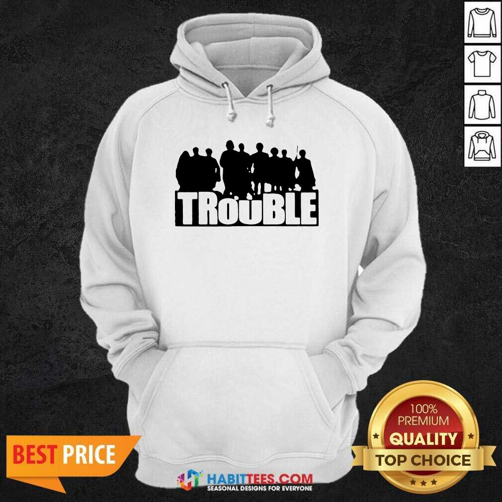Top The Chosen Merch Trouble Hoodie- Design by Habittees.com