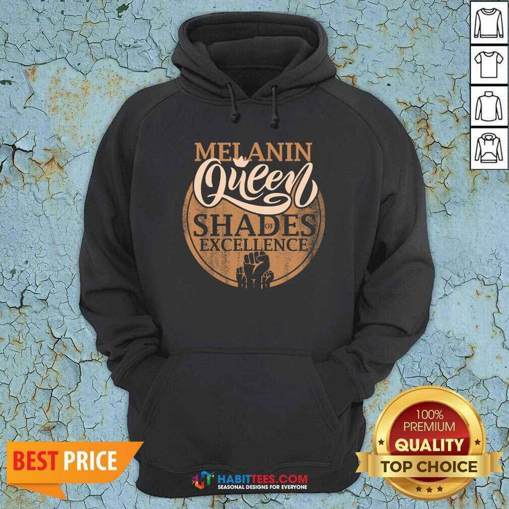 Awesome Melanin Queen Shades Of Excellence Strong Black Woman Fist Hoodie - Design by Habittees.com