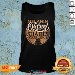 Awesome Melanin Queen Shades Of Excellence Strong Black Woman Fist Tank Top - Design by Habittees.com