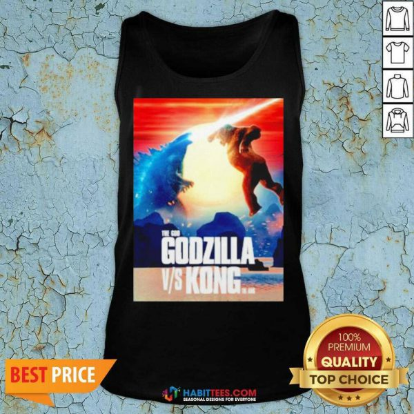 Awesome The God Godzilla vs Kong The King 2021 Tank Top