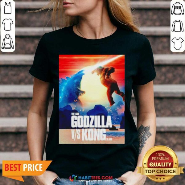 Awesome The God Godzilla vs Kong The King 2021 V-neck