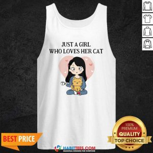 Chibi Girl Just A Girl Who Loves Her Cat 1 Tank Top - Desisn By Habittees.com