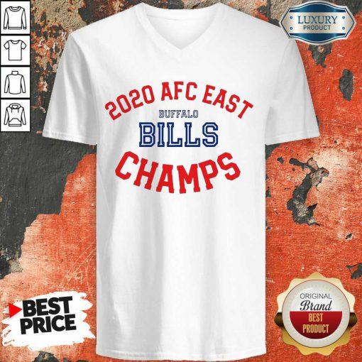Funny 2020 AFC East Buffalo Bills Champions V-neck