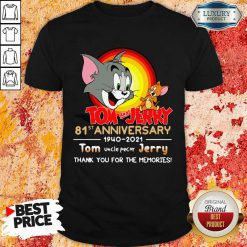 Funny Tom And Jerry 81st Anniversary Shirt