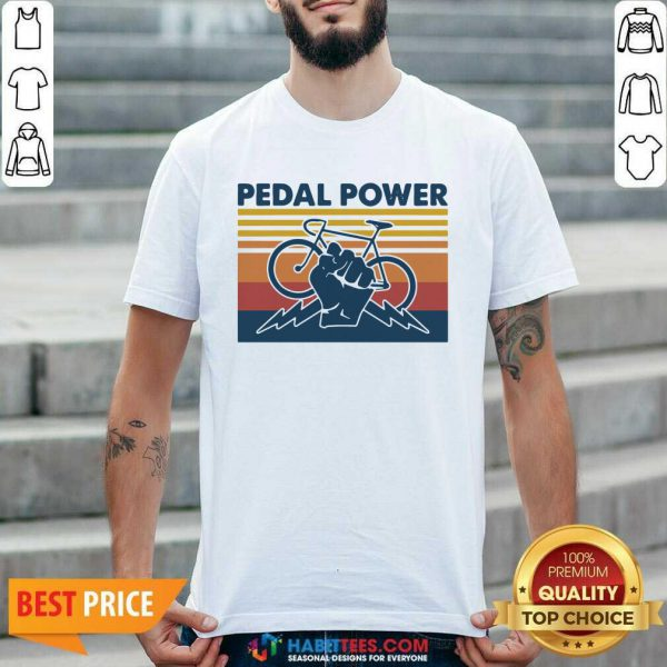 Bicycle Pedal Power Vintage Retro 1 Shirt - Desisn By Habittees.com