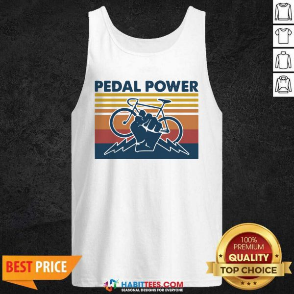 Bicycle Pedal Power Vintage Retro 1 Tank Top - Desisn By Habittees.com