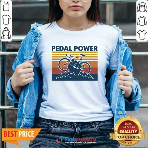 Bicycle Pedal Power Vintage Retro 1 V-neck - Desisn By Habittees.com