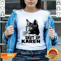 Cat Shut Up Karen V-neck - Desisn By Habittees.com