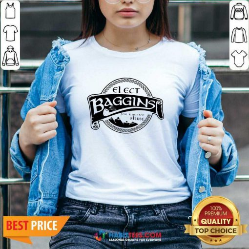 Hot Elect Baggins For A Better Shire 1 V-neck - Desisn By Habittees.com